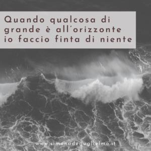 Un'onda gigantesca.